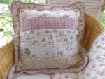 "Clayre & Eef Kissenhülle ""Cottage"" 50x50cm Quilt Patchwork Shabby Chic"