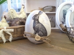 "Clayre & Eef Osterei mit Hase ""Frohe Ostern"" Nostalgie Shabby Chic"