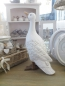Preview: bell arte Tierfigur weiße Gans stehend Gartendekoration Cottage Landhausstil