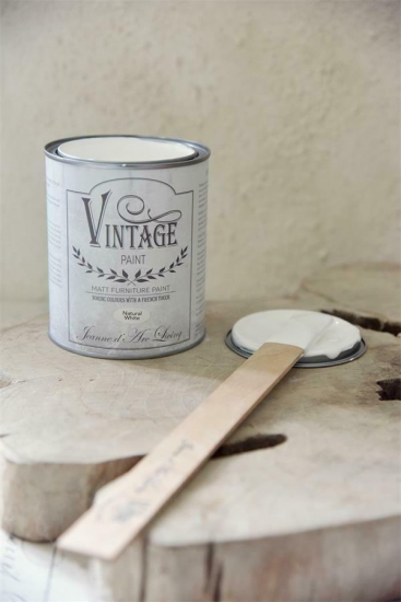 "Jeanne d´Arc Living Vintage Paint ""Natural White"" weiß 700ml matt Kalk/Kreidefarbe Shabby"